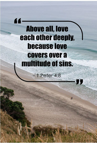 1 Peter 4:8 Above All Love Poster, Print, Picture or Framed Photograph