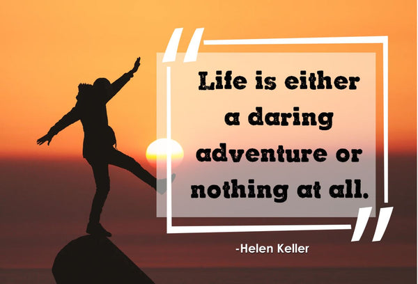 Helen Keller Life Is Either Poster, Print, Picture or Framed Photograph