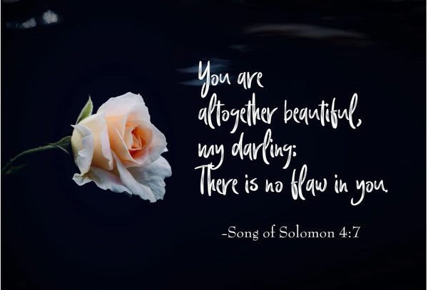 Song of Solomon 4:7 You Are Altogether Poster, Print, Picture or Framed Photograph