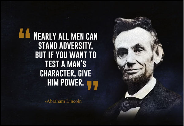 Abraham Lincoln Nearly All Men Poster Print, Picture or Framed Photograph