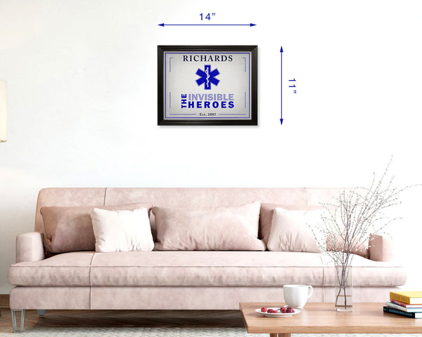 EMS Gifts, EMT Gifts, Dispatcher Gifts, Paramedic Gift, First Responder Gift, Graduations, Personalized 11x14 Framed Picture