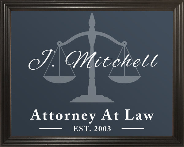 Law School Graduation Gift, Gifts for Attorneys, Lawyer Gift, Gift For Lawyer, Law Office Décor, Personalized 11x14 Framed Picture
