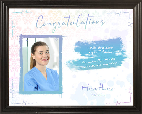Nursing School Graduation Gifts, Gift For Nurse, Gifts For Nurses, Nursing Graduation, Personalized 11x14 Framed Picture