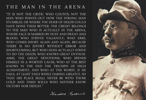man in the arena poster