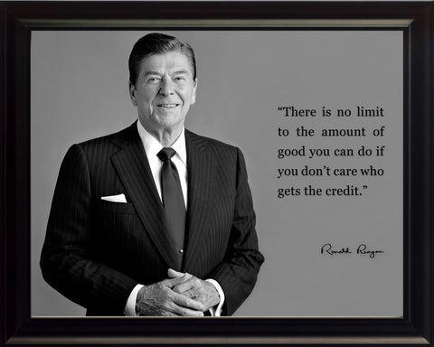 "Ronald Reagan ""There Is No Limit"" Quote 8x10 Framed Picture"