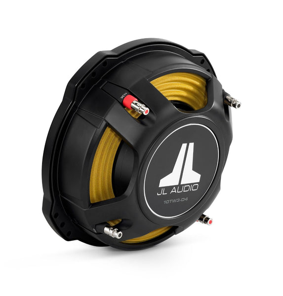 JL Audio 10TW3-D4 10-inch (250 mm) Subwoofer Driver, Dual 4 Ω