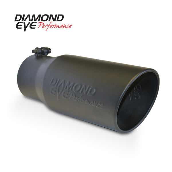 Diamond Eye TIP 5in-6inX12in BOLT-ON ROLLED ANGLE 15 ANGLE CUT DIAMOND EYE BLACK POWDERCOAT