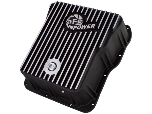 aFe Power Cover Trans Pan Machined Trans Pan GM Diesel Trucks 01-12 V8-6.6L Machined