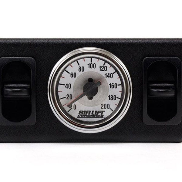 Air Lift, Air Bags 26229 Dual Needle Gauge Panel with Dual Paddle Switches - HornBlasters
