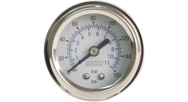 "Viair 160 PSI 2"" Single Needle Air Gauge"
