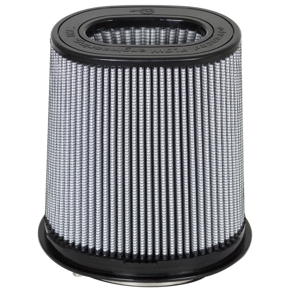 aFe Magnum FLOW Pro DRY S Air Filter 6.75x4.75 Flange 8.25x6.25 Base (Mt2) 7.25x5 Top 8.5 Height