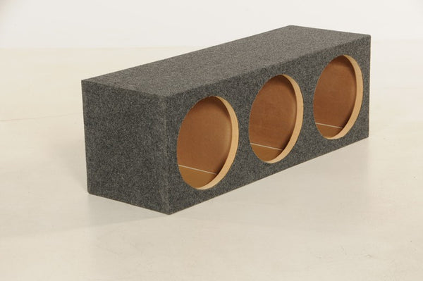 "QPower HD12 3HOLE Subwoofer Enclosure with 3 12"" Holes"