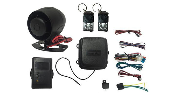 HornBlasters 4 Channel Car Alarm with Slide Remote - HornBlasters