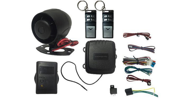 HornBlasters 4 Channel Car Alarm with Flip Remote - HornBlasters