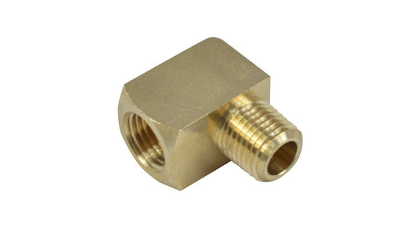 "1/4"" NPT Male to 1/4"" NPT Female Elbow Fitting - HornBlasters"