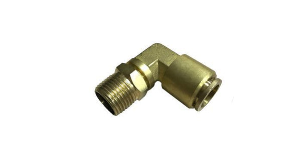 "3/8"" Male NPT to 1/2"" PTC Elbow Fitting - HornBlasters"