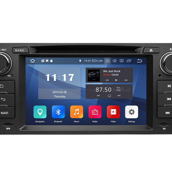 Eonon BMW E90/E91/E92/E93 Android 9.0 Pie Car Head Unit with 2G RAM 32G ROM 7 Inch HD Touchscreen Car GPS Navigation System Support Built-in Bluetooth 5.0 4G Wi-Fi Steering Wheel Control DVD Player
