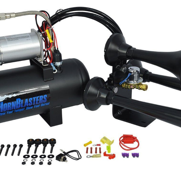 HornBlasters Outlaw 228H Black Train Horn Kit