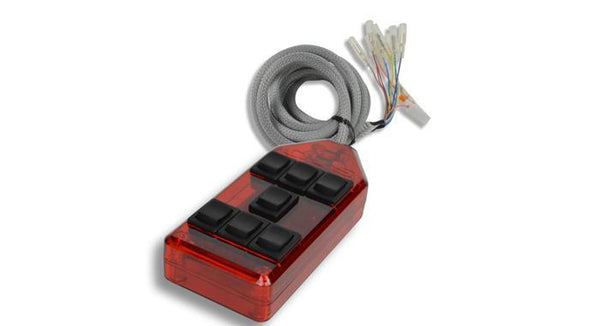 AVS Rocker 7 Switch Controller Red - HornBlasters