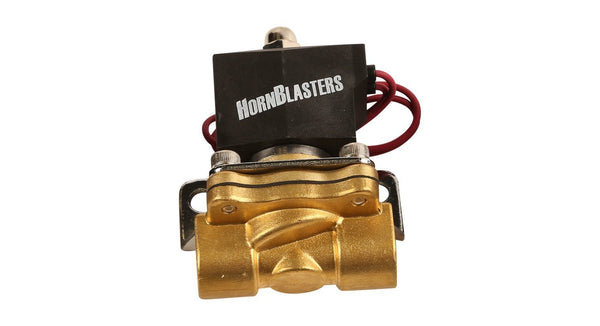 "HornBlasters Brass 1/2"" Electric Air Valve - HornBlasters"