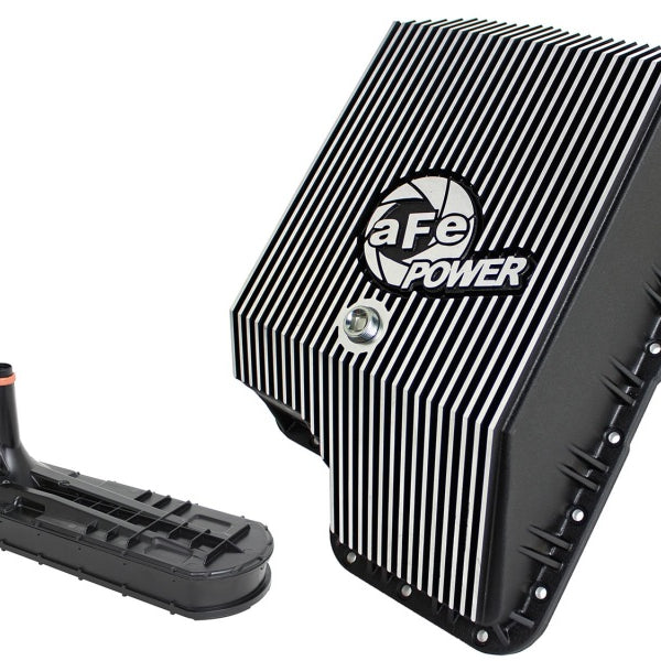 afe Transmission Pan (Black); Ford Diesel Trucks 03-10 V8-6.0/6.4L (td)