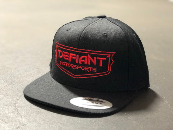 Black SnapBack Red Logo