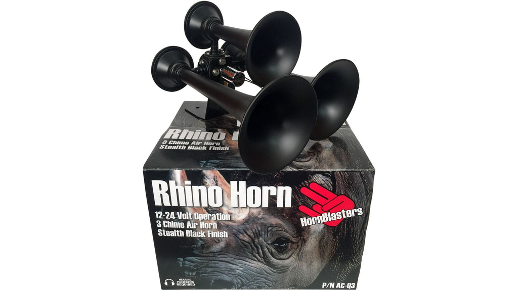 HornBlasters Rhino Black Train Horn