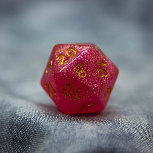 Art Dice - D20 - Rich Ruby