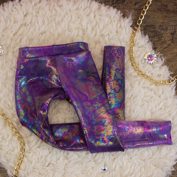40cm - Purple Oil Slick Leggings
