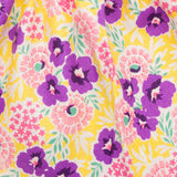 40cm - Yellow and Purple Floral Gathered Skirt
