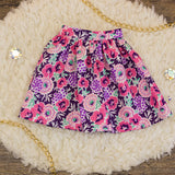 40cm - Purple and Yellow Floral Gathered Skirt