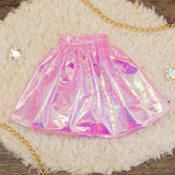 40cm - Pink Iridescent Gathered Skirt
