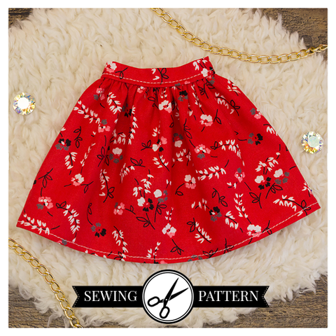 Slim MSD - Gathered Skirt Sewing Pattern