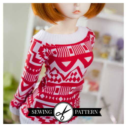 Slim MSD - Open-Neck Sweater Sewing Pattern