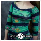 Slim MSD - Raglan Tee Sewing Pattern
