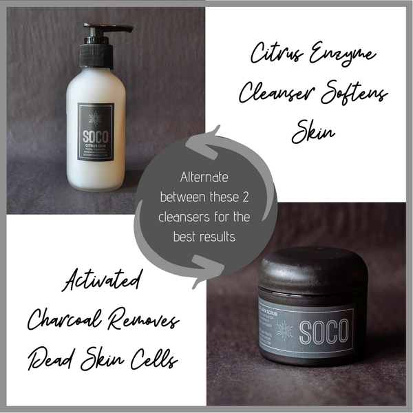 SOCO Black Lava Scrub & Citrus Gem Cleanser Bundle