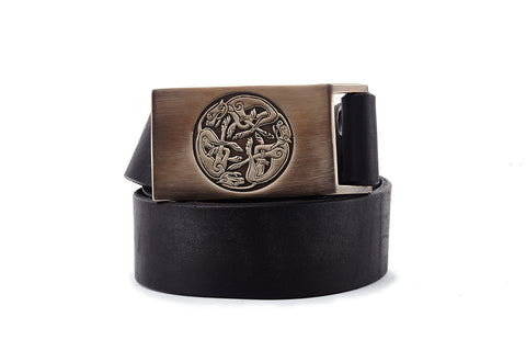 Celtic Hounds Bronze Belt Buckle - The Raven Works