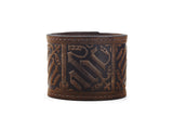 Gothic Brown Leather Cuff Bracelet - The Raven Works
