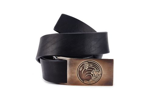 Iris Bronze Belt Buckle - The Raven Works