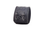 The Raven Works - Scottish Chord Black Leather Cuff