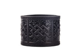 Scottish Chord Black Leather Cuff - The Raven Works