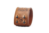 The Raven Works - Scottish Chord Cognac Leather Cuff