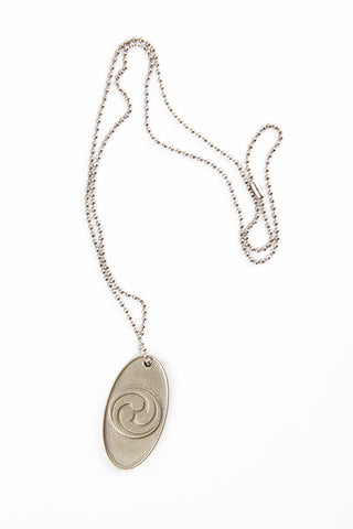 Three Treasures Pewter Pendant with Stainless Chain
