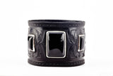 Warrior Black Leather Cuff by Joshua B. C. Hoy