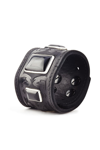 Warrior Leather Cuffs worn by Rival Sons' Jay Buchanan