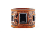 Warrior Cognac Leather Cuff by Joshua B. C. Hoy