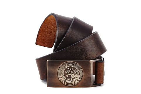 Bronze Wave Belt Buckle - The Raven Works