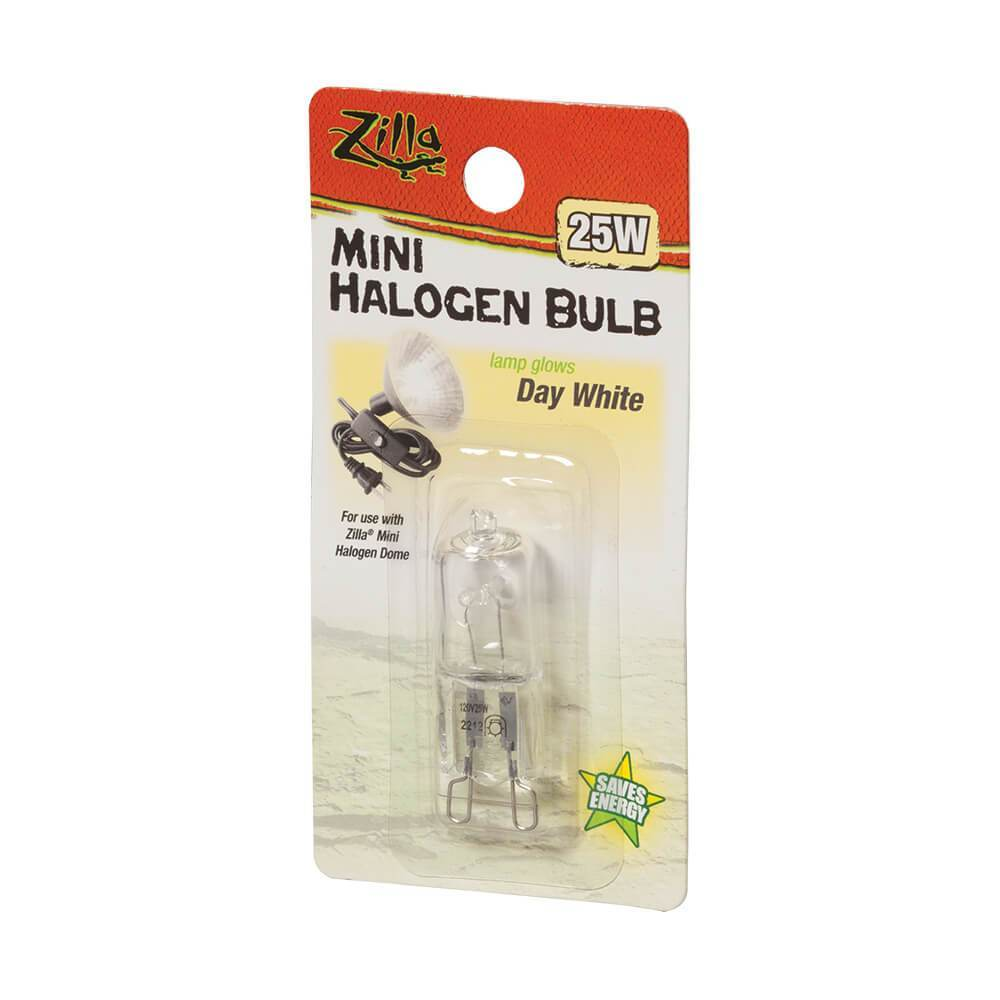 Zilla Day White Mini Halogen Bulb, 25w - DubiaRoaches.com