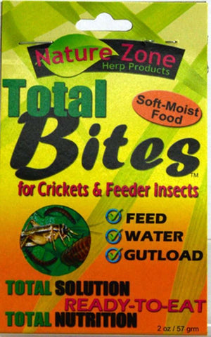 Nature Zone Cricket Total Bites with Spirulina 2oz - DubiaRoaches.com