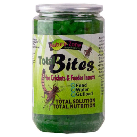Nature Zone Cricket Total Bites with Spirulina 24oz - DubiaRoaches.com
